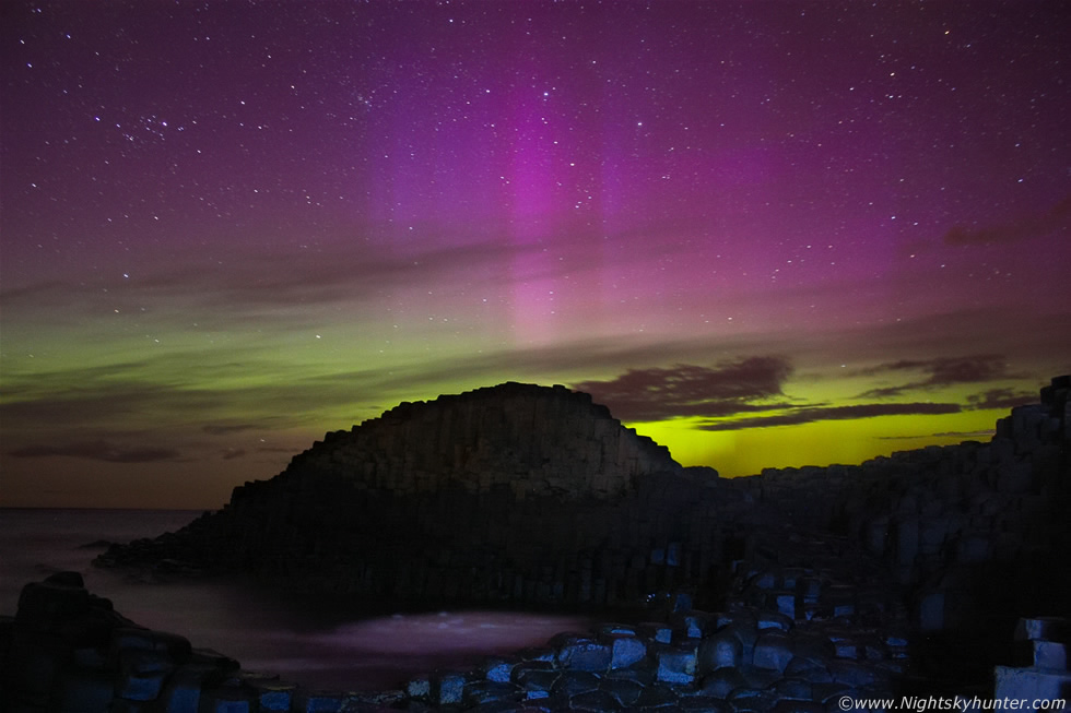 Aurora Display, Giant's Causeway & Ballintoy Harbour