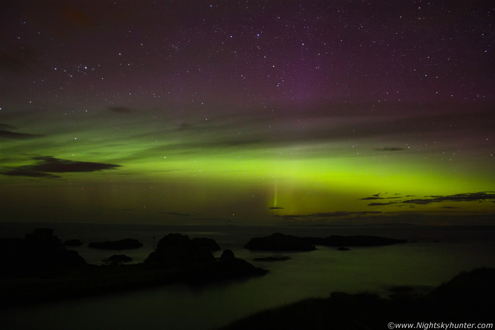 Aurora Display, Giants Causeway & Ballintoy Harbour