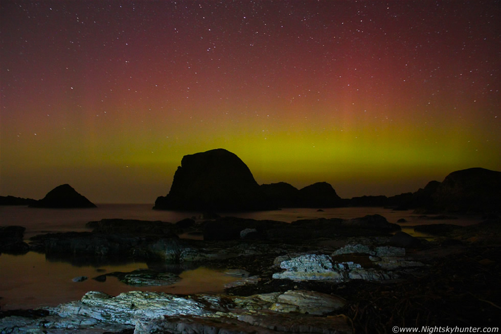 Ballintoy/White Park Bay Beach Aurora Display - March 27th 2012