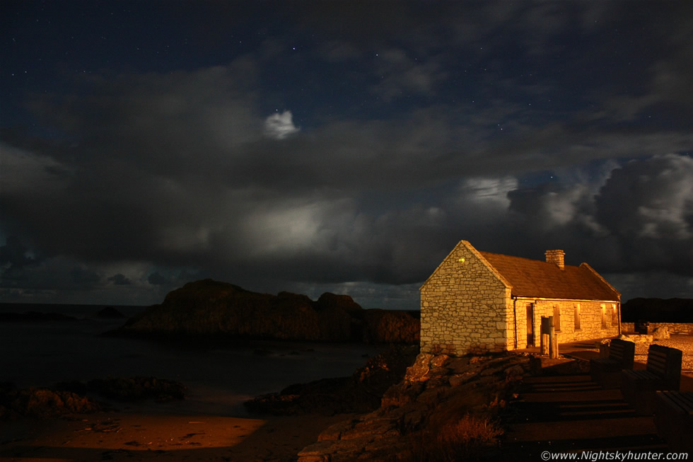 Roark's Cottage & Moonlit Showers With Stars