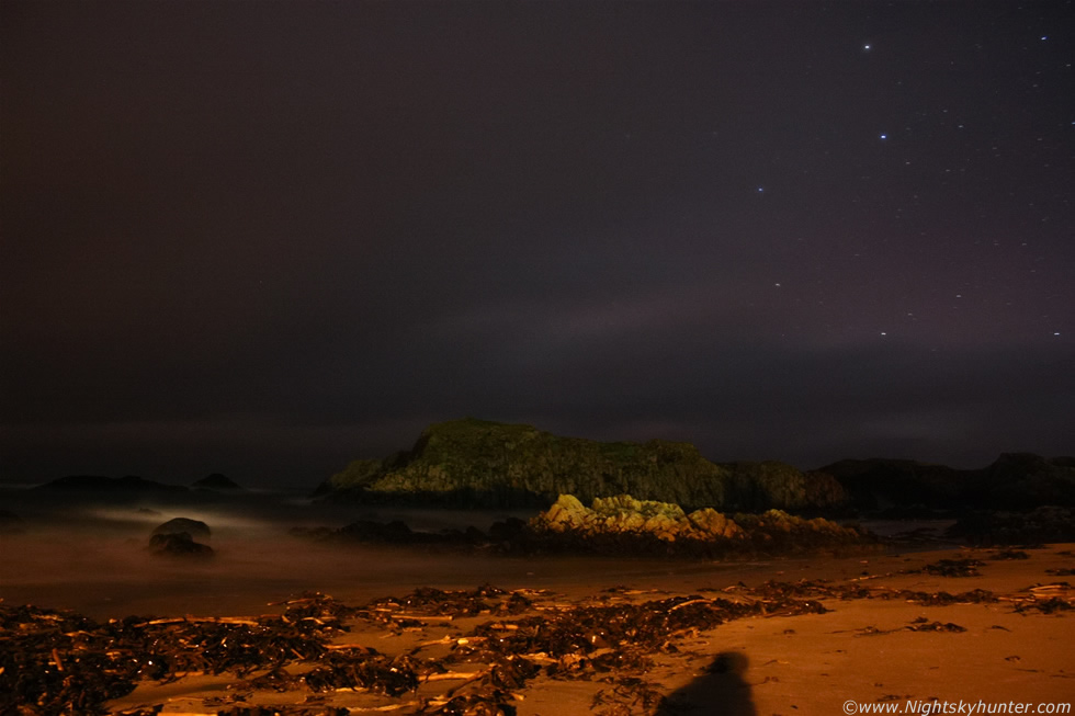 Ballintoy Harbour Night Storms & Stars