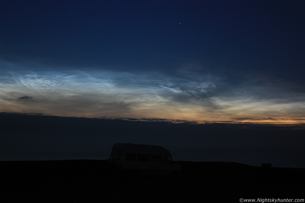 Dunluce Castle Noctilucent Cloud Display