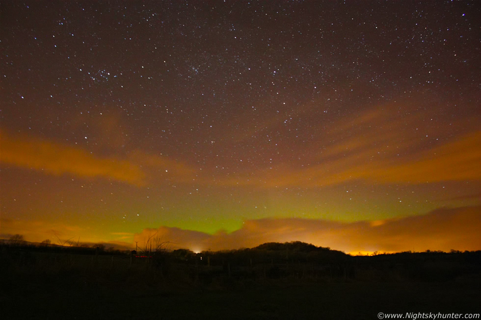 Glenshane Pass Snow Showers, Planets & Aurora