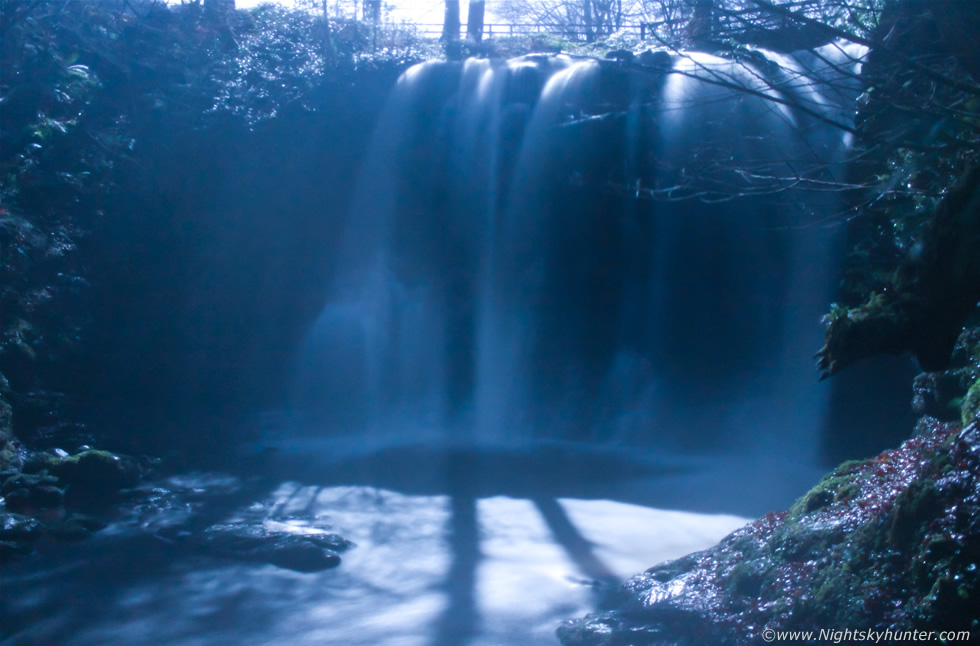 Glenariff Full Moon Waterfall