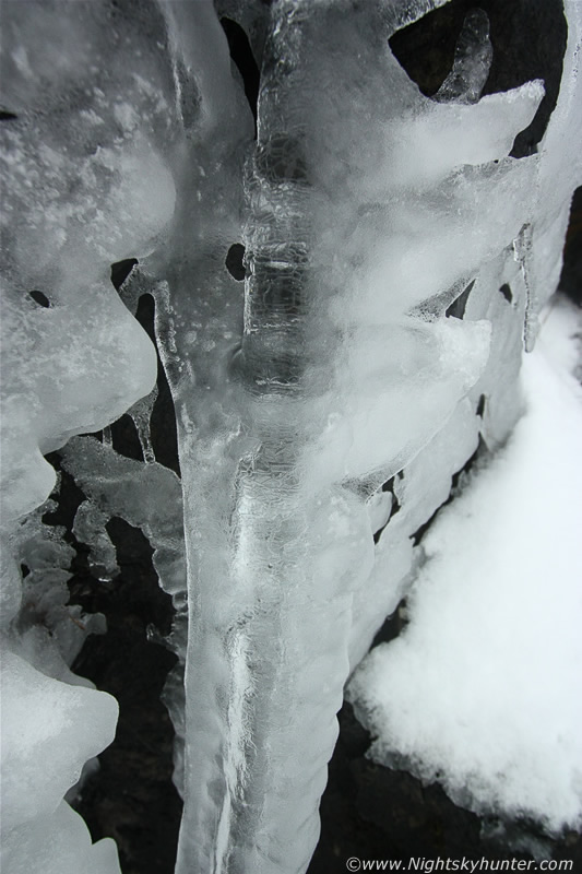 Insane Icicle Display On Glenshane Pass