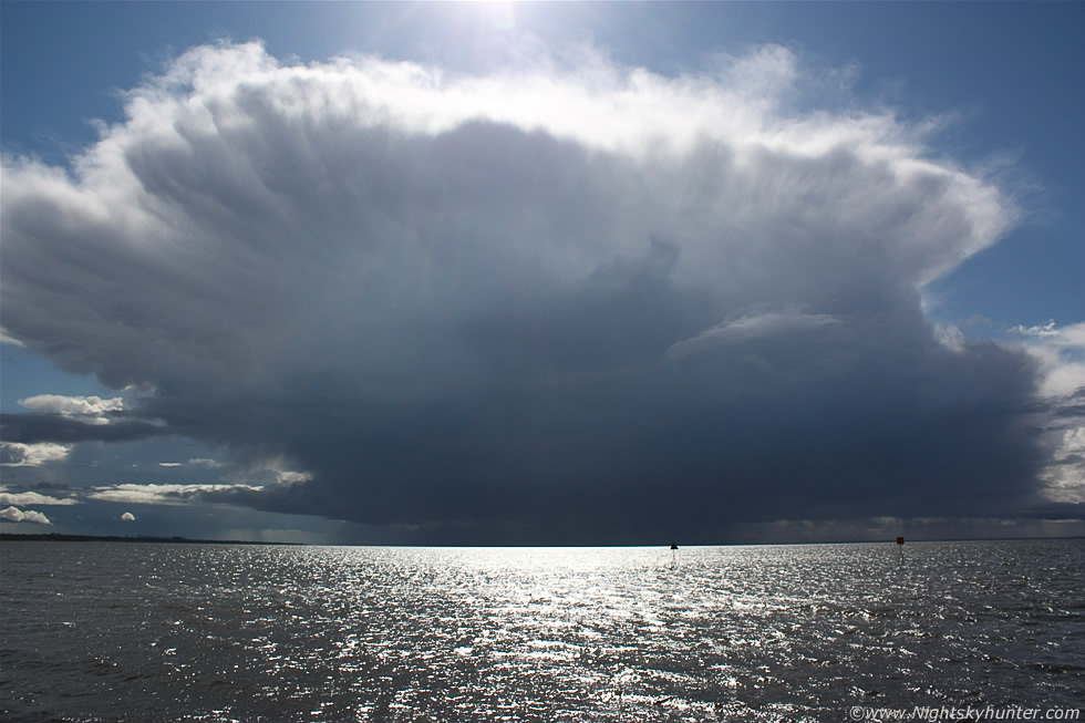 Massive Storm Cells Over Lough Neagh