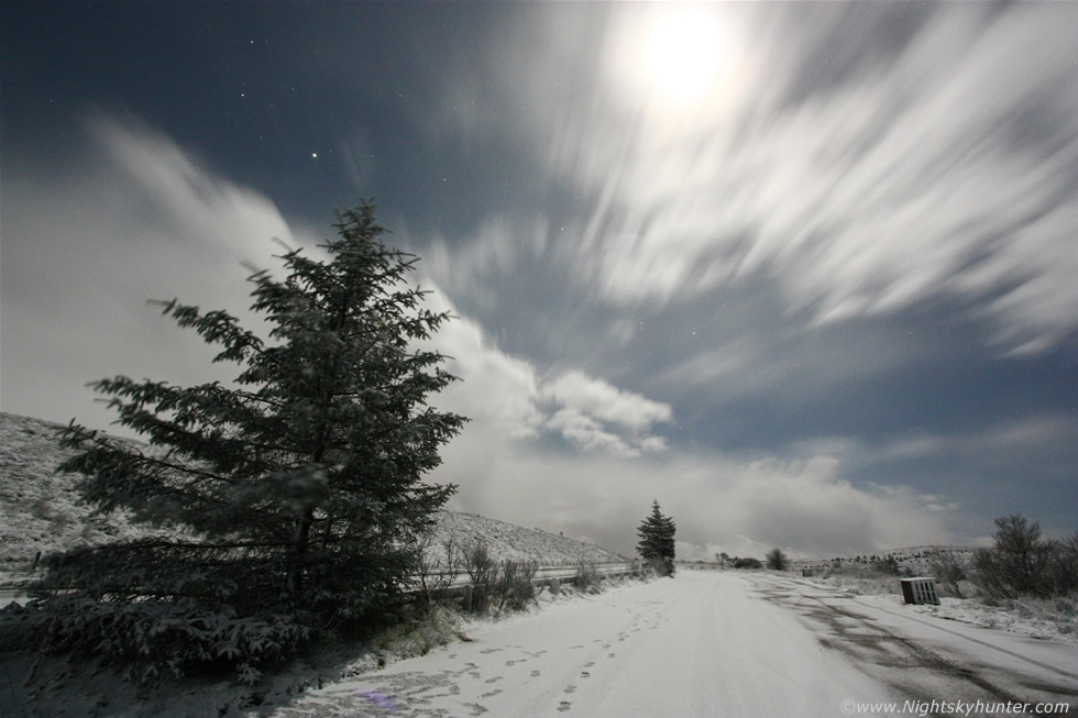 Moonlit Snow On Glenshane Pass