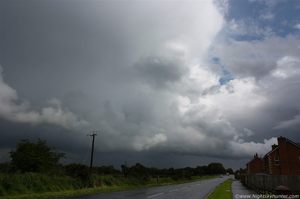 Shelf Cloud/Gust Front & Thunderstorm, Glenshane Road, July 7th 2011