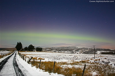 Valentine's Aurora Display from Glenshane Pass - Feb 14th 2011