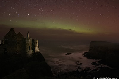 Aurora Display, Dunluce Castle & Antrim Coast - March 1st 2011