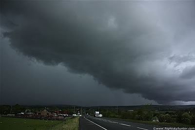 Severe Multicell Thunderstorms, Glenshane Pass - May 9th 2011