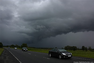 Glenshane Shelf Cloud, Thunderstorm, July 7th 2011