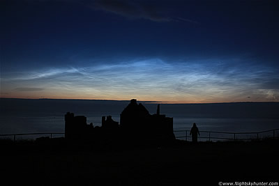 Dunluce Castle Noctilucent Cloud Display - July 10th 2011