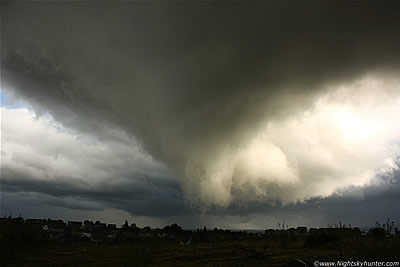 Close Range Wall Cloud & Funnel Cloud, Maghera - Sept 16th 2011