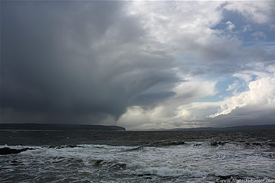 Funnel Cloud/Possible Waterspout, Co. Antrim Coast - Oct 18th 2011