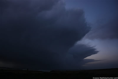Atlantic Storm, 80mph Winds, Foam Blizzard, Big Waves & Dusk Mammatus - Ballintoy Harbour, Dec 28th 2011