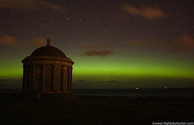 Mussenden Temple & Downhill Estate Aurora Display - October 8th 2012