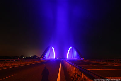 Toome Bridge At Night With Light Trails - July 19th 2013