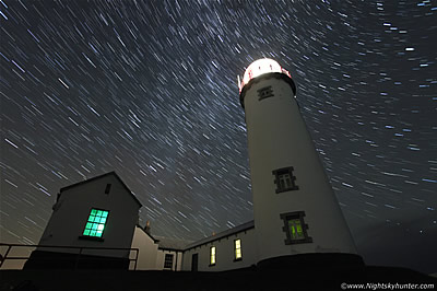 Fanad Head Lighthouse Milky Way & Star Trails - September 27th 2014