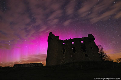 Monea Castle G2 Aurora Display - April 16th 2015