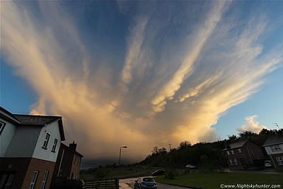 Stunning Sunset Mammatus Clouds Over Maghera - May 18th 2015