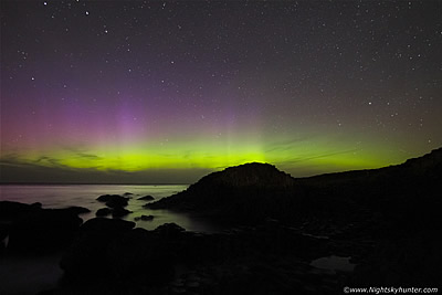 Giant's Causeway Aurora Display - September 9th 2015