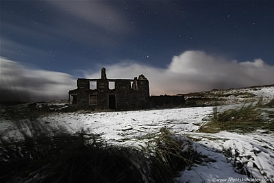 Glenshane Moonlit Snow & Derelict House - Nov 20th 2015