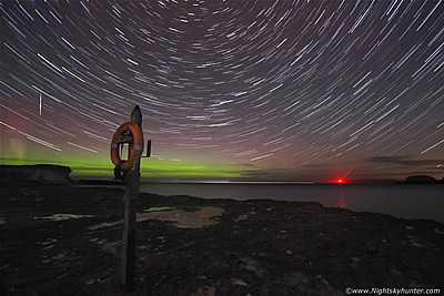 Antrim Coast Storms, Star Trails, Aurora & Fireballs - November 2015