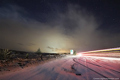 Glenshane Pass Night Snow Photography - January 24th 2016