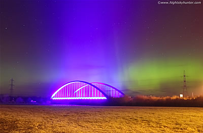 Stunning Aurora Over Toomebridge - March 6th 2016