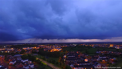 Cookstown Dusk Storm & Night Lightning By Drone - May 21st 2016
