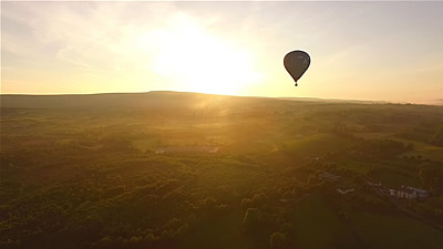 Drone Footage Of Hot Air Ballloons At Golden Hour - June 2016