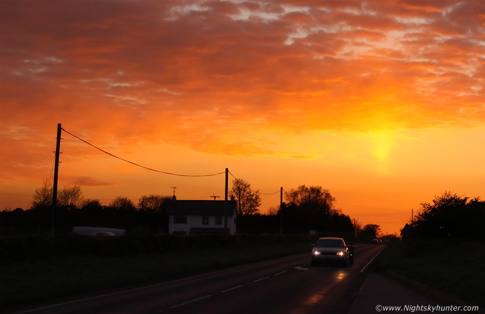 Omagh Road Sun Pllar & Sunset