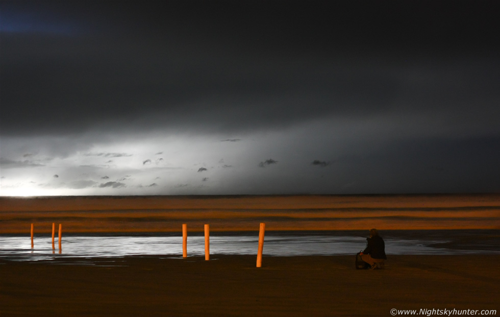 Downhill Beach Night Lightning
