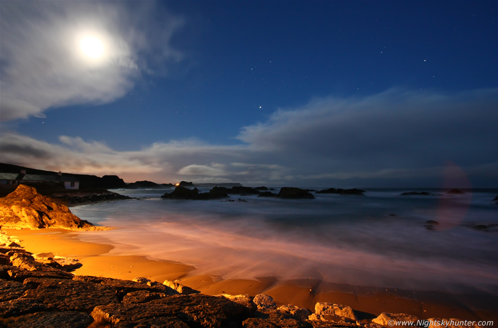 Ballintoy Harbour In Moonlight